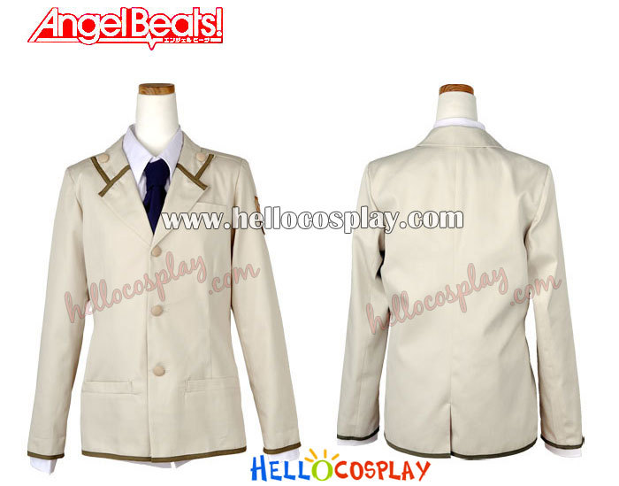 Angel Beats! Cosplay Costume School Boy Uniform H008