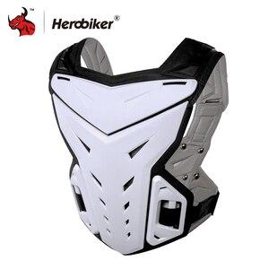 Image 5 - HEROBIKER motosiklet zırh yelek motosiklet koruma motosiklet sürme göğüs zırh Motocross yarış yelek ve motosiklet diz pedleri