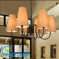 Modern chandeliers lamp Wrought iron lighting 6 lampshade sitting room foyer LED lighting light fixture
