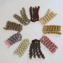 1pcs 15*100cm High Temperature Fiber Fashion Curly Doll Hair Wefts for DIY 1/3 1/4 1/6 BJD SD Doll Wigs russian handmade doll hair 20 cm high temperature wavy hair for 1 3 1 4 1 6 bjd diy curly doll wigs tree