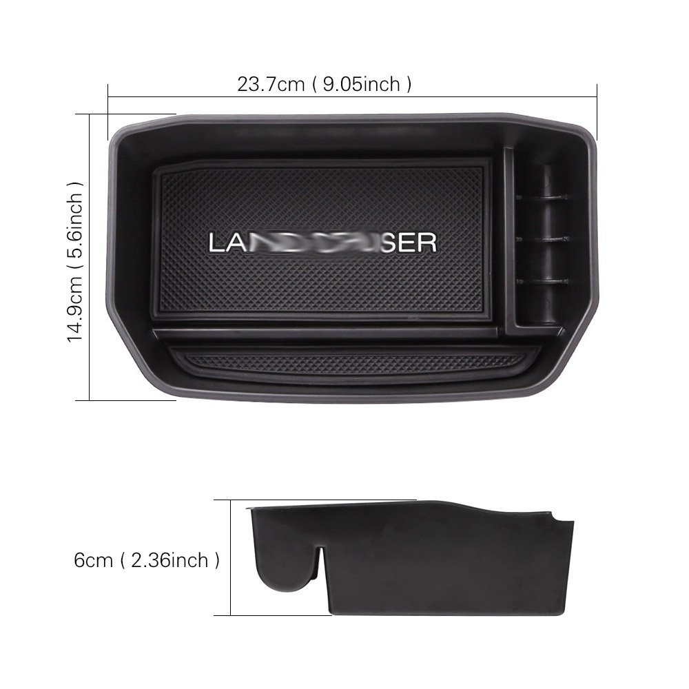 Armrest Center Console Tray Glove Box Secondary Storage For Toyota Land Cruis