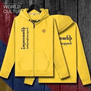 Image 5 - アルメニアアルメニアアーム AM メンズフリースパーカー冬ジャージ男性コートジャケットとトラックスーツ服カジュアルネイション国 2018