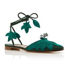 Hot Lastest Rome Boho Style Green leaves hollow sandals female Flip Flops bowtie flat shoe shoes Luxury Party Shoe Women Gladtor