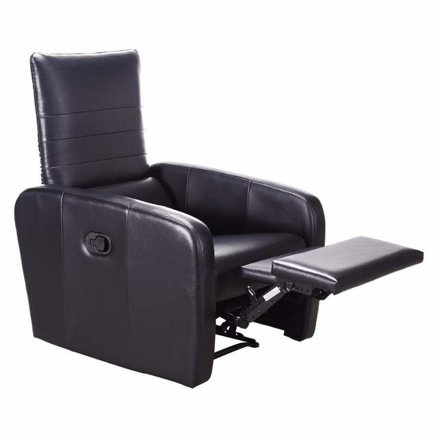 US $172.71 35% OFF|Giantex Manual Recliner Sofa Chair Contemporary Foldable  Back Leather Reclining Chair Modern Living Room Furniture HW57305-in ...