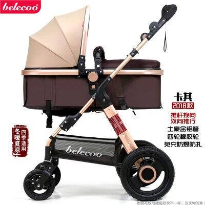 Light baby stroller Belecoo brand baby carriage  baby stroller child wheelbarrow light baby car high landscape EU strollers
