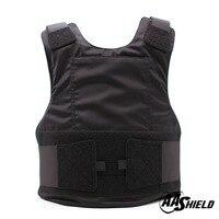 AA баллистический щит костюм тела Armour жилет удобные пуленепробиваемые арамидных Core вставить безопасности уровня черного NIJ IIIA и HG2 M/L
