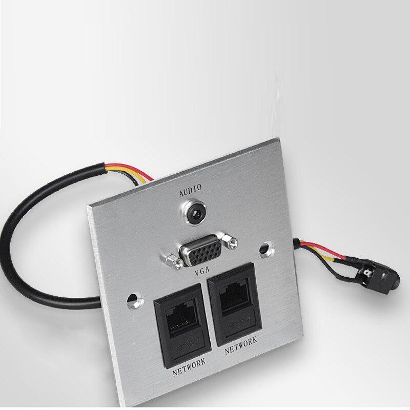 Free Shipping Multimedia Panel Socket Aluminum Panel Socket Multifunction Information Pa ...