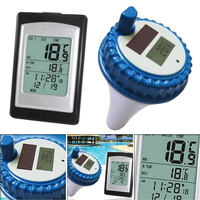 Wireless Solar Power Floating Pool Thermometer Digital Swimming Pool SPA Floating Thermometer C55K Sale