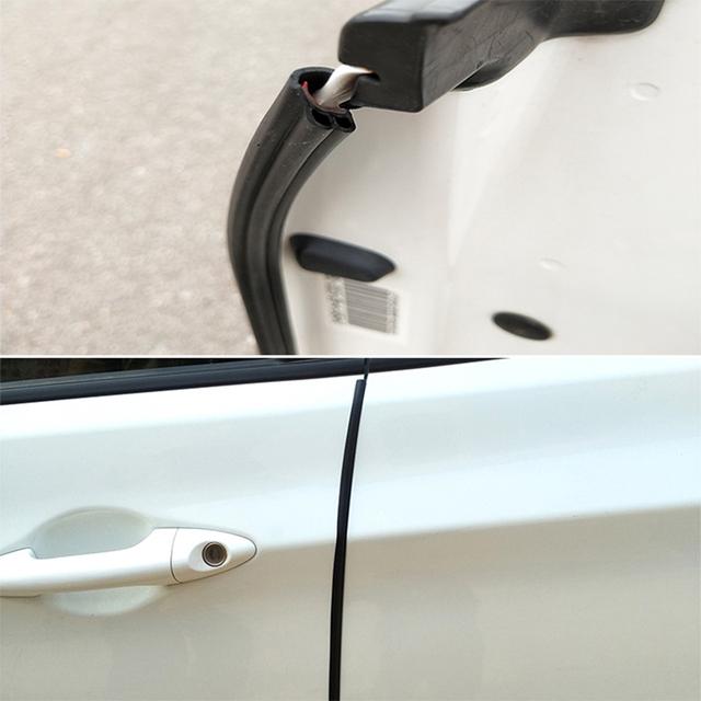 Car Door Edge Scratch Protector Strips Auto Stickers Protector Seal Door Mouldings Universal Interior Parts Accessories Styling