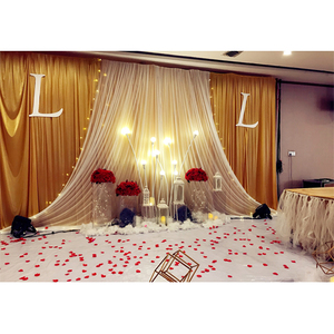 Image 5 - Wedding party stage table centerpieces backdrop Acrylic transparent road lead crystal folding column flower stand decorations