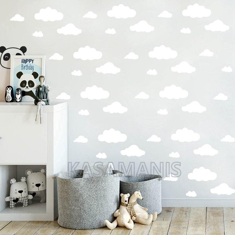 cartoon clouds Vinyl Wall Sticks Kids Room Decor