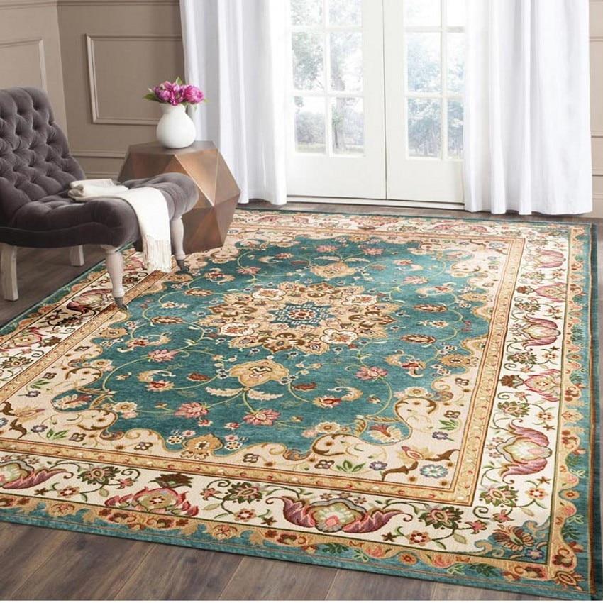 레트로 스타일 클래식 카펫 큰 크기 거실 커피 테이블 카펫, 사각형 지상 매트, 페르시아어 가정 장식 매트-에서카펫부터 홈 & 가든 의  그룹 1