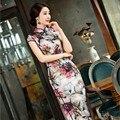 Chinese Women's Satin Cheongsam chi-pao elegant Chinese dress Mini Evening Dress vestidos Size:S M L XL XXL 10 colors