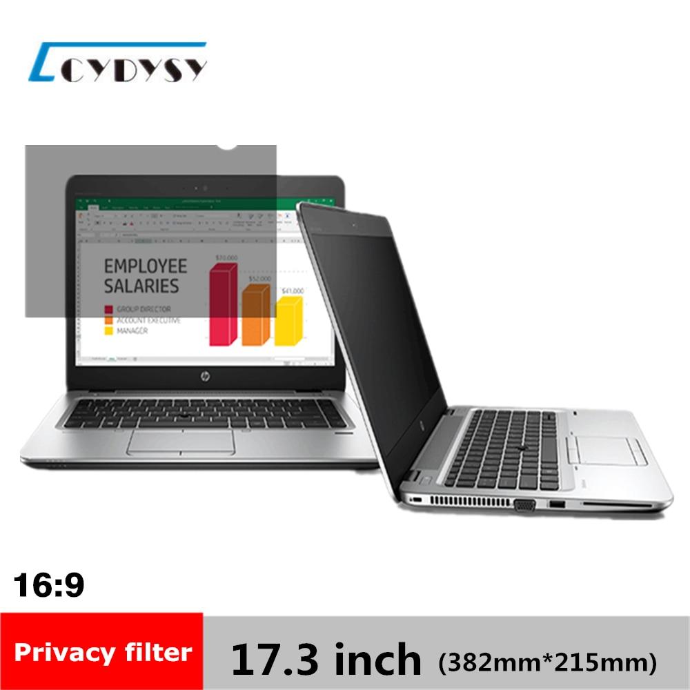 "17,3 tommer Privacy Filter Screen Protectors Film til 16: 9 widescreen laptop 15 1/16 ""bred x 8 7/16"" høj (382mm * 215mm)"