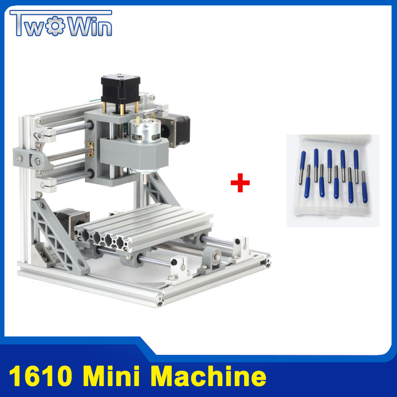 CNC Rounter DIY 1610 Mini CNC Machine, Working Area 16*10*4.5cm, 3 Axis PCB Milling Machine With GRBL Control