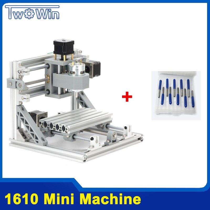 CNC Routeur BRICOLAGE 1610 Mini Machine de COMMANDE NUMÉRIQUE PAR ORDINATEUR, zone de travail 16*10*4.5 cm, 3 axes Fraiseuse PCB avec GRBL Contrôle