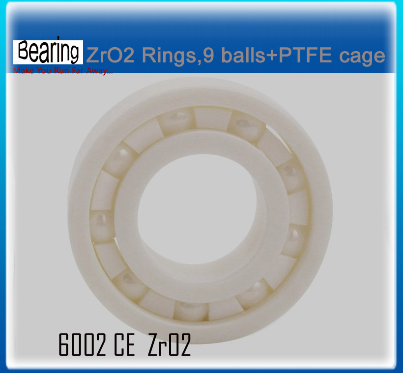 Double seals ZRO2 full Ceramic bearing 6002 15x32x9mm ceramic bike repair bearing 1 piece zro2 full ceramic bearing 6003 17x35x10mm ceramic bike repair bearing 1 piece