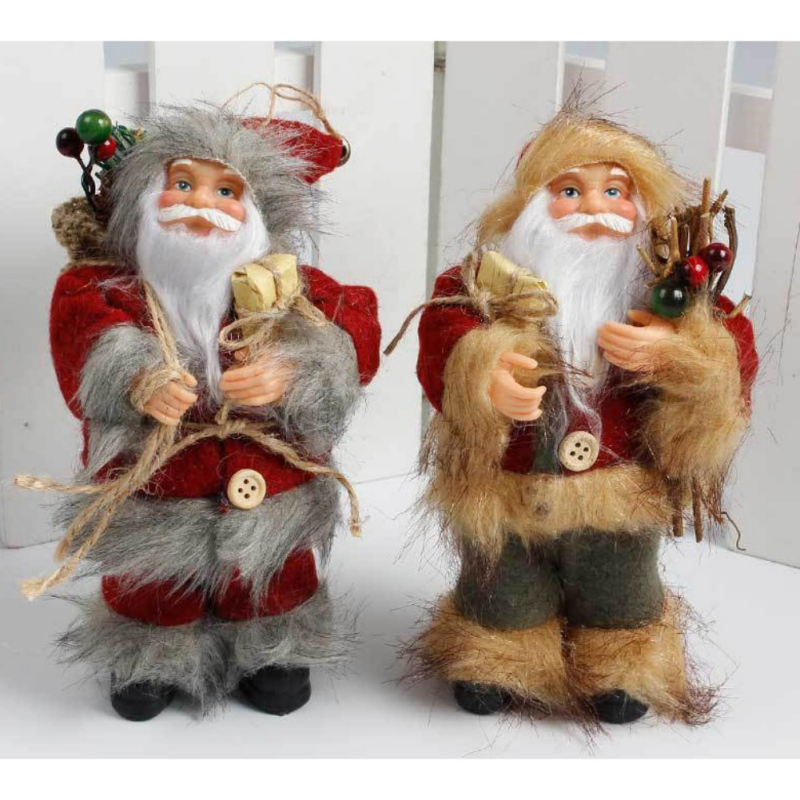 2017 Christmas Santa Claus Doll Toy Christmas Tree Hanging Ornaments Decoration Exquisit ...