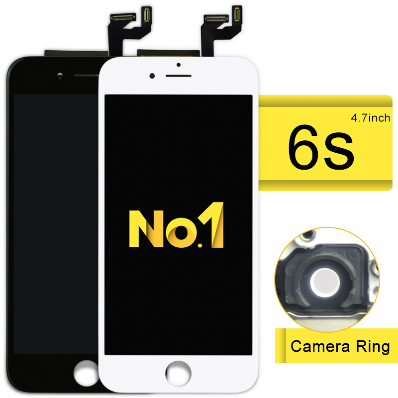 ФОТО 20pcs New For Iphone 6s Lcd Display And Touch Screen Digitizer Full Assembly Replacement Complete +camera Holder+frame