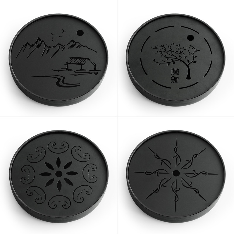 Metal Plate Ceramic Gong Fu Tea Tray 2