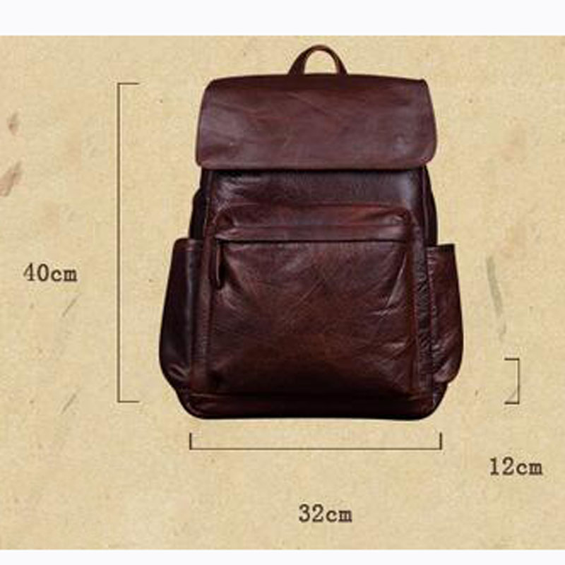 8c1522f3ccd4 AETOO New leather men backpack leisure first layer of leather shoulder bag  fashion trend travel backpack-in Backpacks from Luggage   Bags on  Aliexpress.com ...