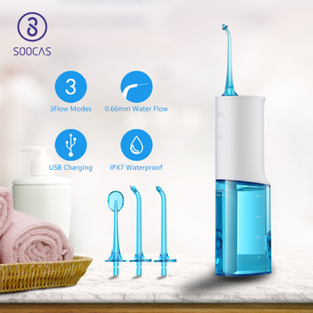 SOOCAS W3 Portable Dental Water Flosser Electric for Xiaomi Mijia Oral Irrigator Rechargeable Waterproof Water Toothpick Cleaner