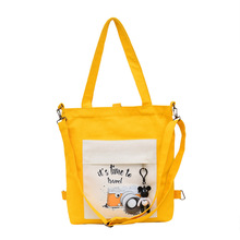 PURFAY Female Handbags Cartoon Print Cloth Canvas Tote Bag Cotton Shopping Travel Women Eco Reusable Girl Shoulder Shopper Bags стоимость