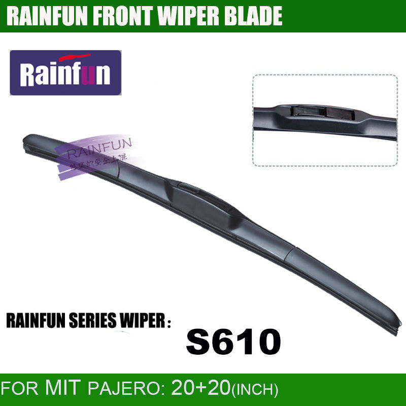 RAINFUN специализированная Автомобильная щетка стеклоочистителя для MITSUBISHI PAJERO(00-06), 20+ 20 дюймов Автомобильный Стеклоочиститель Авто мягкий стеклоочиститель, 2 шт. в партии