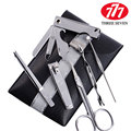 Korea Imported 777 Nail Clippers Suit Genuine Beauty Pedicure Manicure Scissors Clippers Silver Six Sets Knife Multifunction