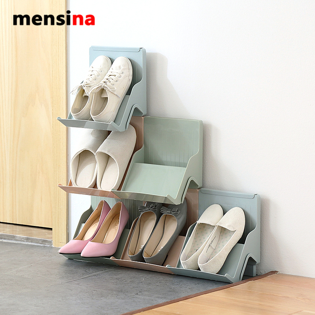 Mensina Family Stackable Shoes Rack Stand Storage Organizer For Shoes DIY  Shoe Cabinet For Home Decor Part 83