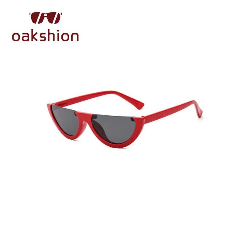 Marca de moda Designer Mulheres Olho de Gato Óculos De Sol Metade Armação Pequena quadro Homens Óculos de Sol Condução Shades oculos de sol 2018 tendência