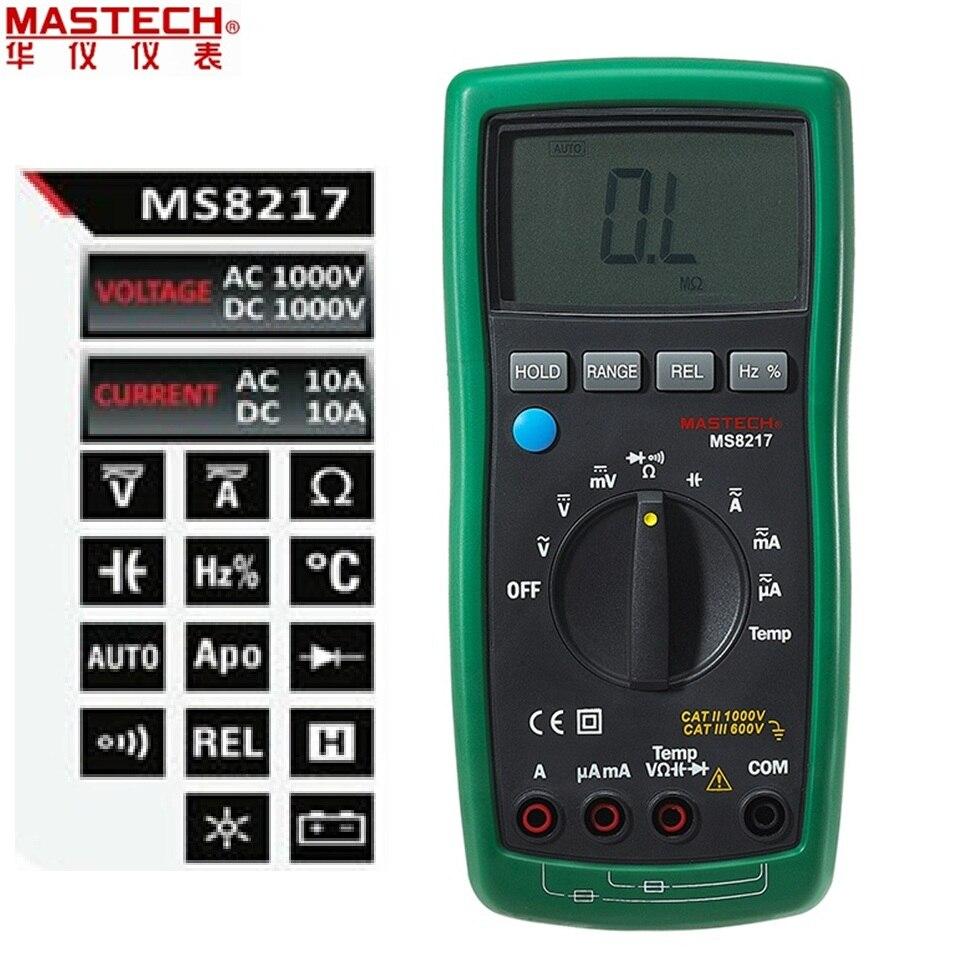 Automatisch Digital Multimeter Tragbare LCD AC DC Prüfvorrichtung Krokoklemmen