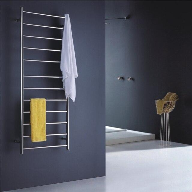Wandmontage handdoek warmer elektrische verwarmd handdoekenrek rvs ...