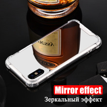 Mirror Case Hard Acrylic Back + TPU Cover for iPhone X