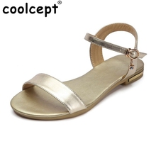 New Brand Shoes Ankle Strap Women Sandals Sweet Flower Stiletto Flats Sandals Women Sandals Female Footwear Size 33-43 PA00773