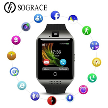 Купить с кэшбэком Smart Watch Digital Q18 Men Bluetooth Wristwatch SIM Sport Smartwatch camera For Apple iPhone Android Phone Wach PK Y1 A1