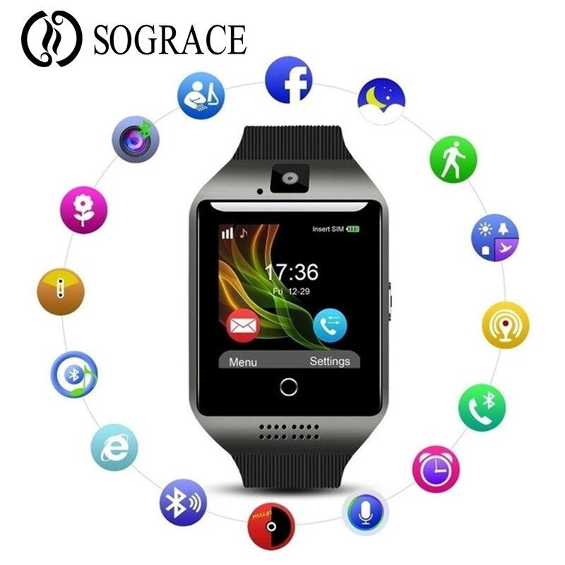 Smart Watch Digital Q18 Men Bluetooth Wristwatch SIM Sport Smartwatch camera For Apple iPhone Android Phone Wach PK Y1 A1