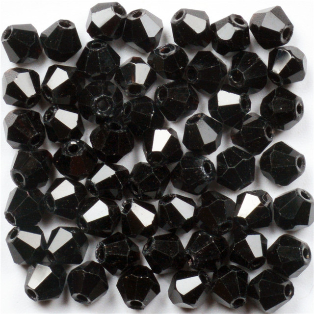 4mm Austrian Black Bicone Crystal Beads for Jewelry Making DIY Accessories  Women Charm Faceted Spacer Glass Beads Wholesale c8f85699e64b