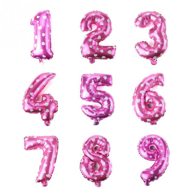 16 zoll Blau/rosa anzahl Ballons geburtstag Hochzeit Party frohes ...
