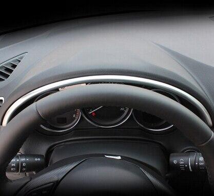 Хромированный декоративный чехол для приборной панели из АБС-пластика с блестками для 2012-2015 LHD Mazda CX-5 cx5