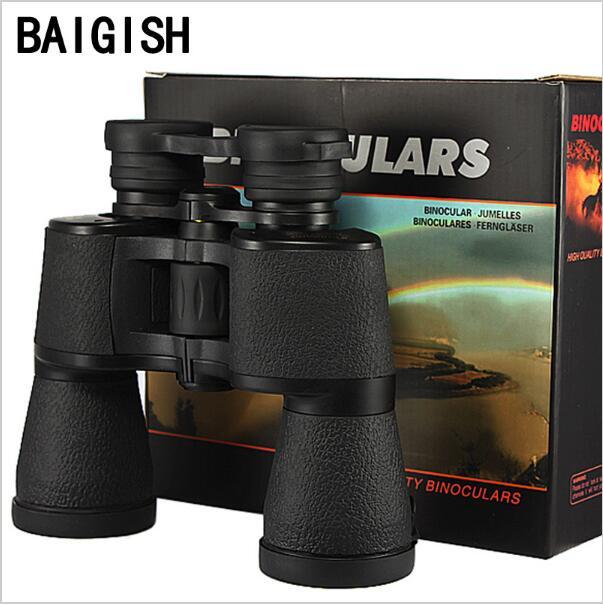 Jumelles professionnelles puissantes baigish 20X50 télescope militaire russe LLL télescope de vision nocturne hd haute puissance zoom chasse