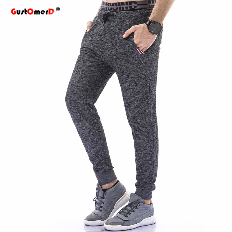 GustOmerD 2018 Casual Pants Spring New Elastic Waist Male Sweatpants Loose Fit Trousers Mens Joggers Sportwear Pants For Men