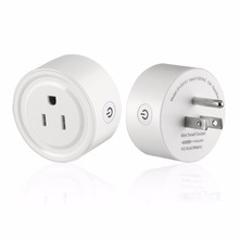 цены 2pcs Round Shape Mini Smart Socket Wireless WiFi Power Plug APP Remote Control Timing Switch Socket for Home Automation System