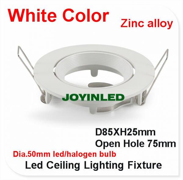 Bases da Lâmpada geada branca acessórios para casa Cut Size : 75 mm