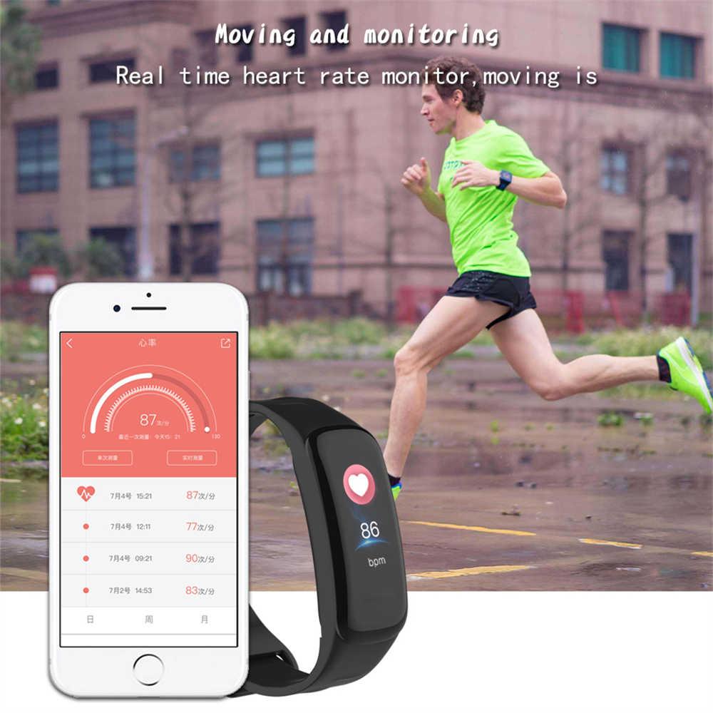 Smart Gelang Gelang Sport Watch Bluetooth Pulse Heart Rate Tekanan Darah Pedometer Kebugaran Kesehatan untuk Android IOS PK Y5
