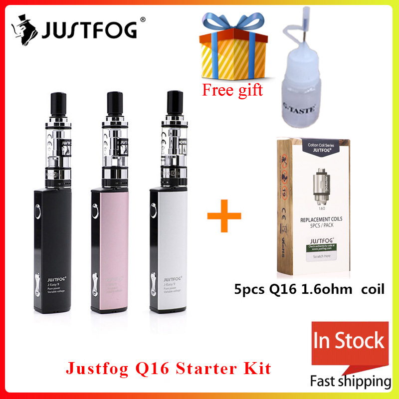 Original Justfog Q16 Starter Kit 900mah Battery With 1.9ML Q16 Clearomizer Tank Electronic Cigarette Vape Pen Vaporizer Kit