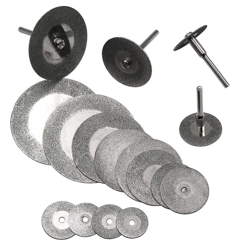16-50mm แผ่นตัดเพชรและสว่าน MINI ใบเลื่อยสำหรับเครื่องมือโรตารี่ Dremel Stone Blade Link rod