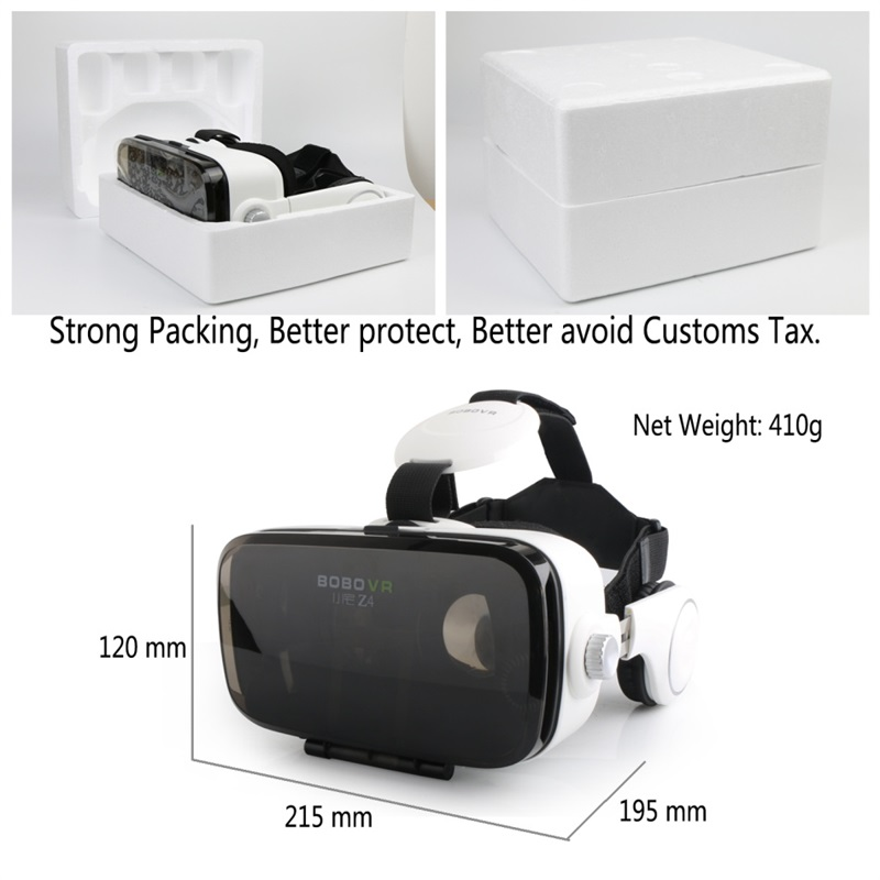 Vendita calda! Google Cartone BOBOVR Z4 gafas realidad virtuale BOBO VR Per 4.7-6.2 pollice Smartphone + Multi-Funzione di Bluetooth gampad