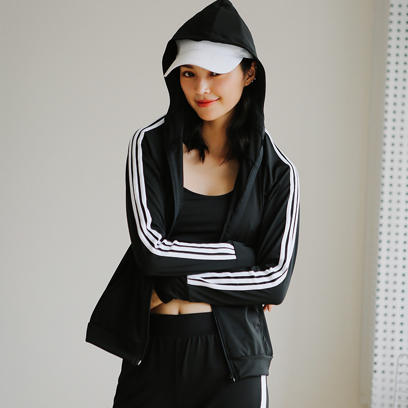New Hot High Quality Fitness Women Yoga Shirts Sport Zipper Hoodies Black Jacket Gym Clothes Sport Wear Outdoor Jogging ...