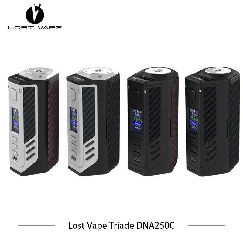 100% D'origine Perdu Vaporisateur Trois Centres DNA250C 300 W boîte mod triple 18650 cigarette Électronique LostVape Vaporisateur Vaporisateur Extensible Vaper